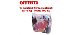 Kit Stracci colorati da 100 kg per pulizia