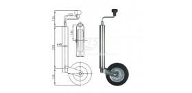 Supporto con ruota Ø 48 millimetri per 150 kg