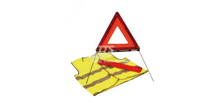 Gilet di sicurezza arancione + Triangolo di sicurezza
