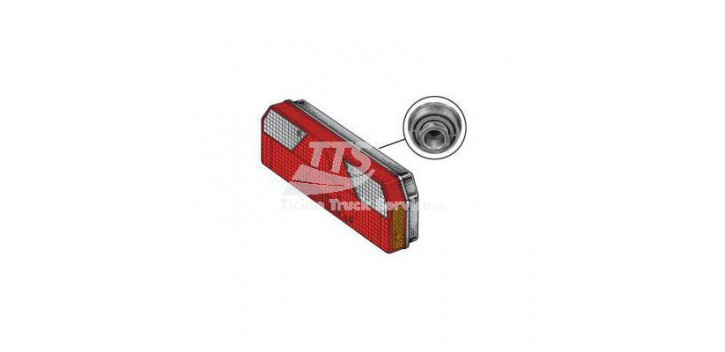 Fanale per rimorchio posteriore DESTRO con 1 Side Marker