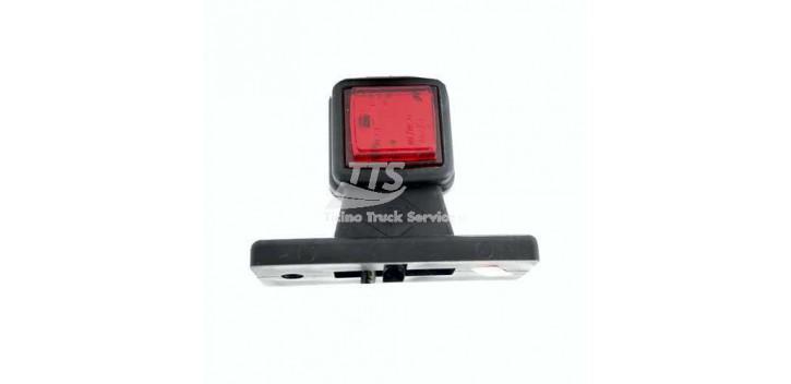Luce di posizione laterale a LED bianco-rosso 12/24V