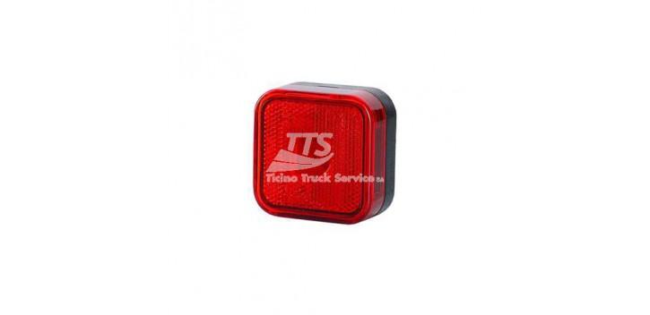 Luce marcatore con dispositivo riflettente, quadrata 12/24 V