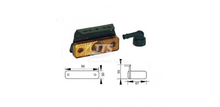 Indicatore laterale LED 24V con supporti angolari universale