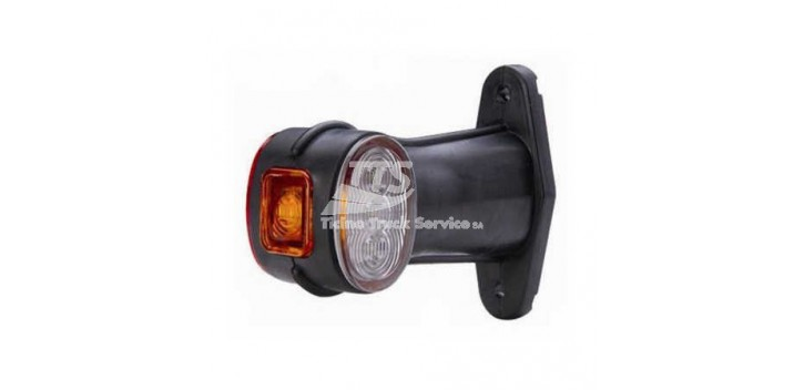 Luce laterale LED 24V 1.3W rosso / bianco / arancio