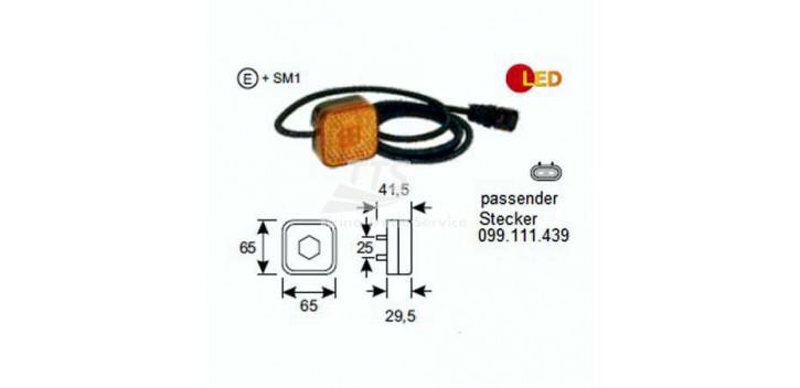 Indicatore laterale LED 24V