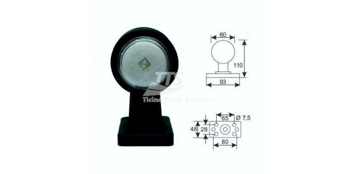Luce laterale LED 12 / 24V 1.05W