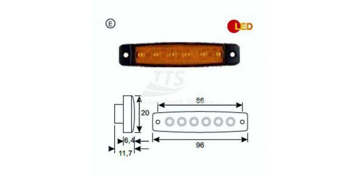 Indicatore lat. LED 12V sx / dx senza riflettore