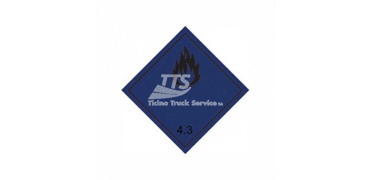 Etichettatura ADR / GGVS Rn Nr. 3902 classe 4.3