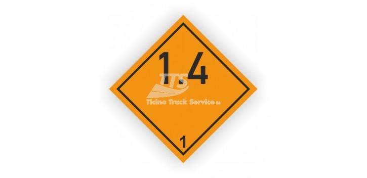 Etichettatura ADR / GGVS Rn Nr. 3902 classe 1